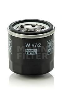Фильтр масляный двигателя MANN-FILTER W67/2