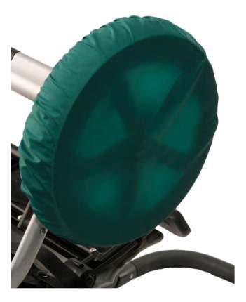 Чехол на колеса детской коляски Чудо-Чадо 4 шт. 28-38 см зеленый