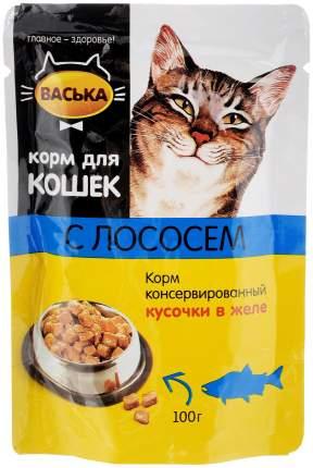 Влажный корм для кошек Васька, лосось, 100г