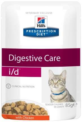 Влажный корм для кошек Hill's Prescription Diet i/d Digestive Care, курица, 12шт, 85г