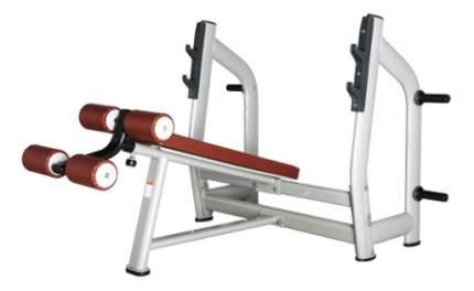 Скамья со стойкой наклонная Bronze Gym H-024