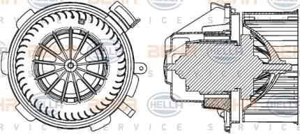Двигатель моторчика печки Hella 8EW 351 034-061