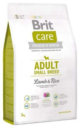 Сухой корм для собак Brit Care Adult Small Breed, для мелких пород, ягненок и рис, 3кг