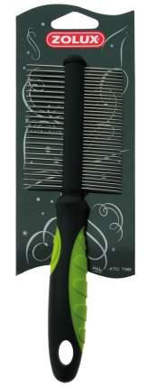 Расческа для собак ZOLUX двухсторонняя ,металл, цвет черный, зеленый