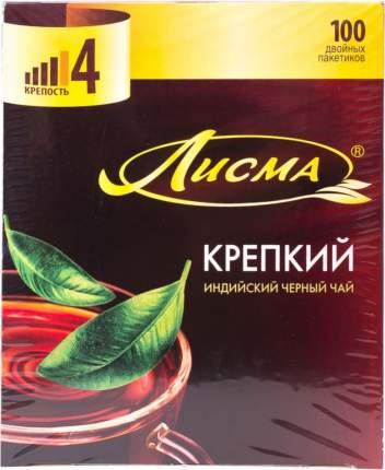 Чай черный Лисма индийский крепкий 100 пакетиков