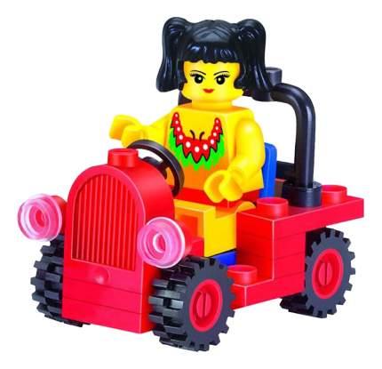 Brick Детский конструктор girls series девочка в автомобиле 34 дет Brick 1205