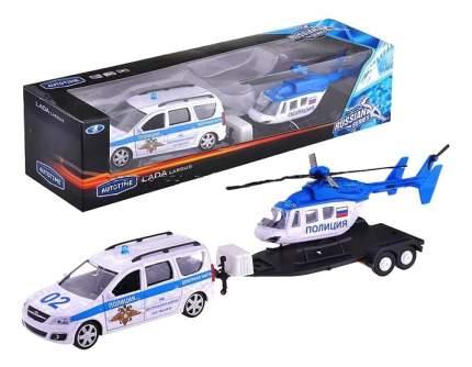 Машина полицейская Lada Largus с Вертолетом Autotime 49520 Полиция