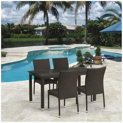 Комплект мебели Afina Garden T256A/Y380A-W53 Brown (4+1)