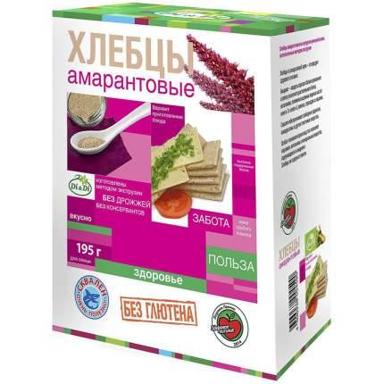 Хлебцы Di&Di амарантовые без добавок 195 г