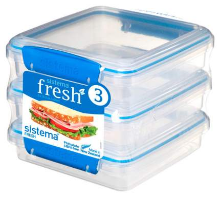Набор контейнеров для СВЧ Sistema Pack Fresh 921643 Синий; Прозрачный