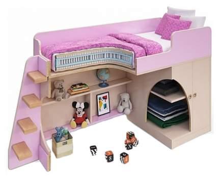 Кровать-чердак Пятая точка Розовый