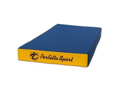 Гимнастический мат Perfetto Sport № 1 (100 х 50 х 10) сине-желтый