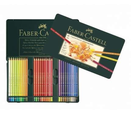 Цветные карандаши Faber-Castell POLYCHROMOS, 36 шт, в металлической коробке