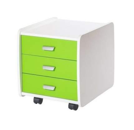 Тумба детская Астек Лидер 3 ящика 07961-1 зеленый с цветными фасадами