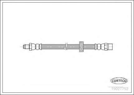 Шланг тормозной Corteco 19027752