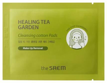 Ватные диски The Saem Healing Tea Garden Хлопковые очищающие 30 шт