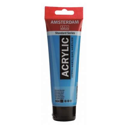 Акриловая краска Royal Talens Amsterdam №564 синий бриллиантовый 120 мл