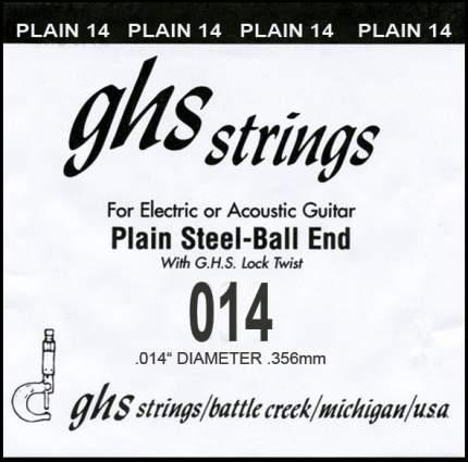 Одиночная струна для акустической и электрогитары GHS 014