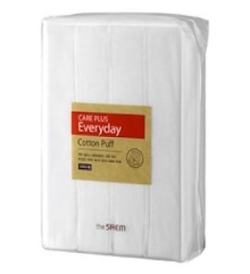 Спонжи косметические из 100% хлопка THE SAEM Care Plus Everyday Cotton Puff 1200шт