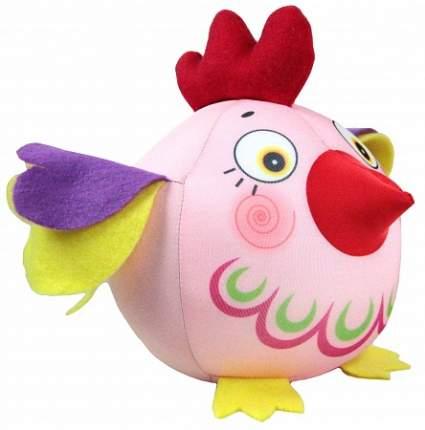 Игрушка-антистресс СПИ Петух-колобок розовый