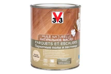 Натуральное масло для паркета и лестниц 3V3 1л. бесцветный матовый