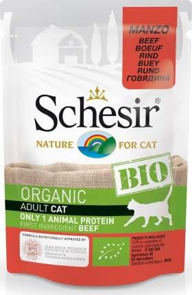 Влажный корм для кошек Schesir, говядина, 85 г