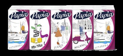 Платочки PAPIA Классические 4 слоя упаковка 10 шт.