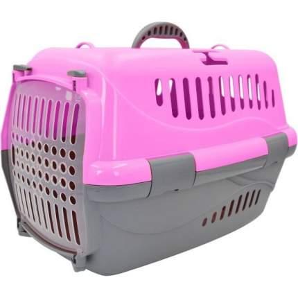 Переноска для животных HOMEPET, розовая 48х32х32 см