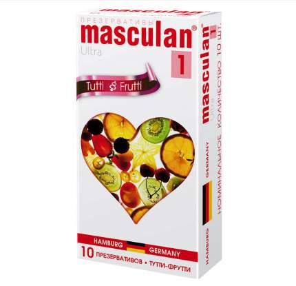 Презервативы Masculan №1 Ultra с фруктовым ароматом 10 шт.
