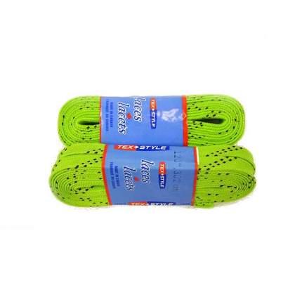 Шнурки для коньков Tex Style W922 зеленые, 2,44 м