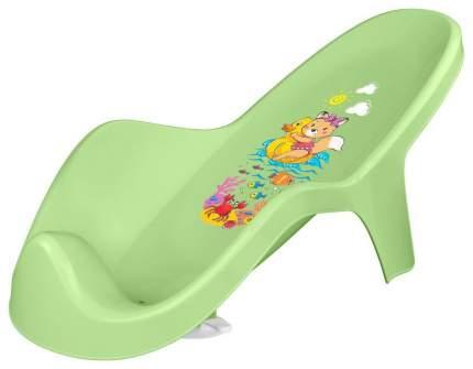 Горка для купания Пластишка с декором зеленая