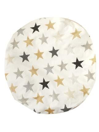 Простыня AmaroBaby на резинке круглая 75х75х12 бязь (Звезды пэчворк)