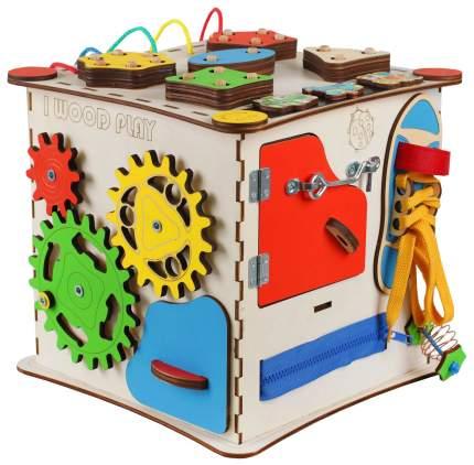 "Бизикуб ""Развивающий куб"" без электрики 25х25 см IWOODPLAY"
