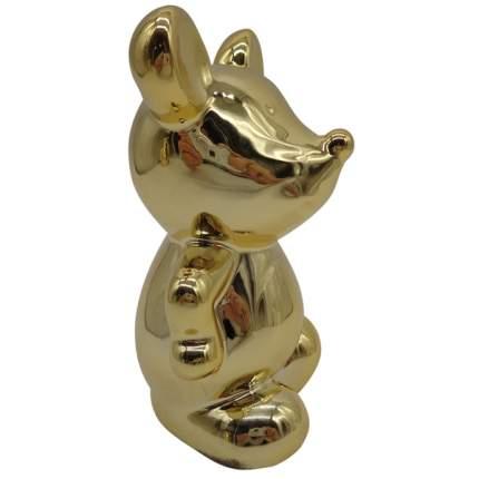 н.г.символ года мышонок фигурка 12*13см покрытие под золото