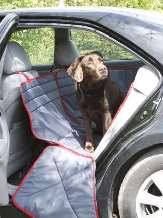 Автогамак для перевозки собак ТрендБай Доггин Даббл, серый, 60х20х20см