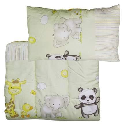 Набор Папитто одеяло + подушка Салатовый 1111 в ассортименте