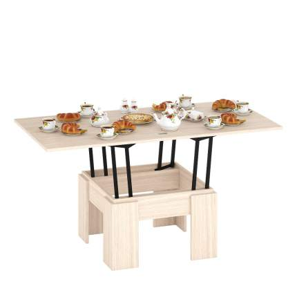 Журнальный столик Delice Бета 1668002 80(160)х80х47,5(81,5) см, дуб