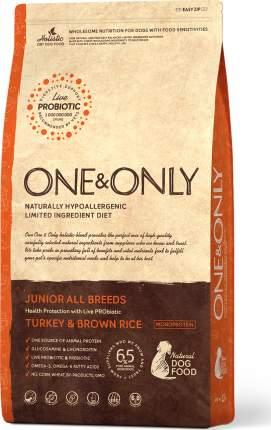 Сухой корм для собак ONE&ONLY Junior All Breeds Turkey&Rice,все породы,индейка с рисом,3кг