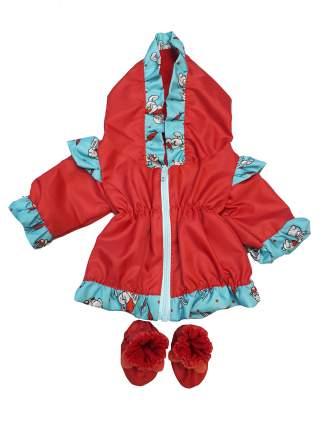 Курточка ветровка и сапоги Дутыши для куклы Колибри 93 Красный,бирюзовый