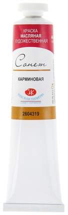 Масляная краска Невская Палитра Сонет карминовый 46 мл