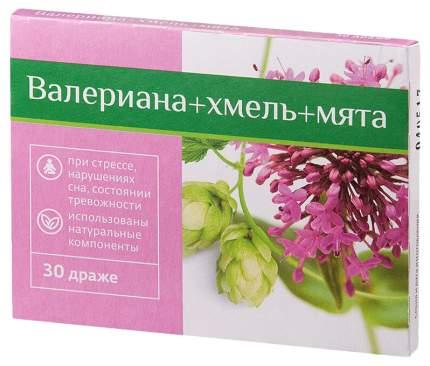 Валериана + хмель + мята PL драже 30 шт.