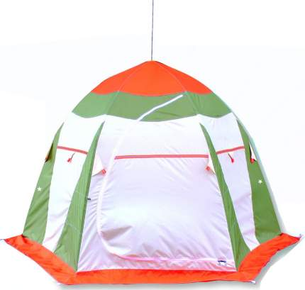 Палатка рыбака Нельма 2 (автомат) (оранжевый/белый/серо-голубой)