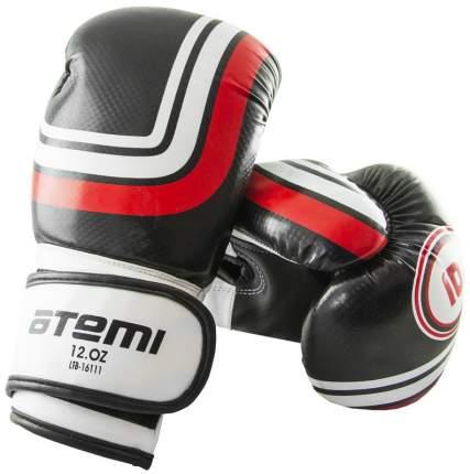 Боксерские перчатки Atemi LTB-16111 черные 6 унций