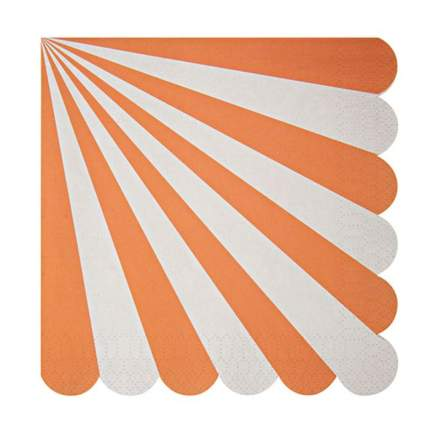 Салфетки в оранжевую полоску, большие Meri Meri
