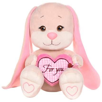 Мягкая игрушка Jack&Lin Зайка с Розовым Сердцем 25см