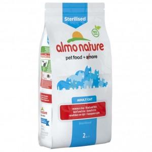 Сухой корм для кошек Almo Nature Adult Sterilised для стерилизованных, говядина рис, 0,4кг