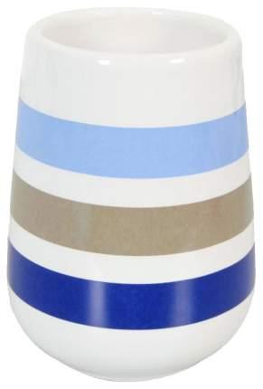 Стакан Rayures белый в синюю полоску