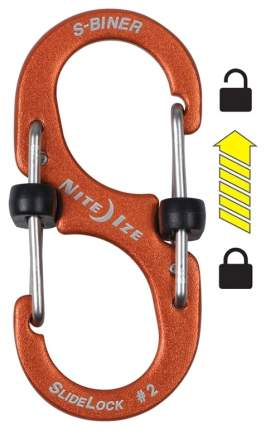 Карабин алюминиевый Nite Ize S-Biner SlideLock #2 LSBA2-19-R6 Orange