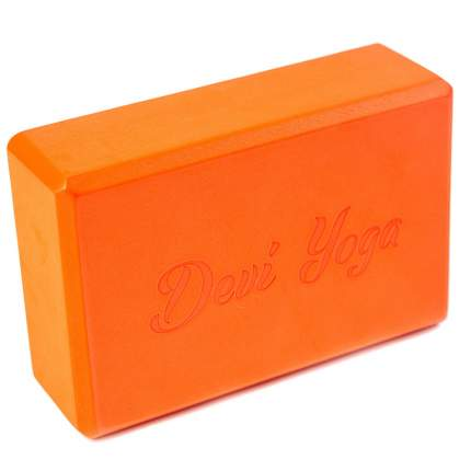 Йога-блок RamaYoga из EVA-пены DY оранжевый