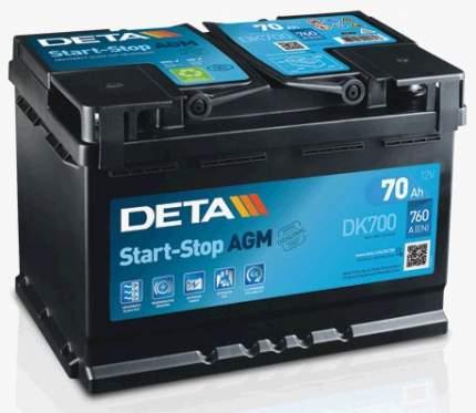 Аккумулятор автомобильный DETA DK700 70 Ач